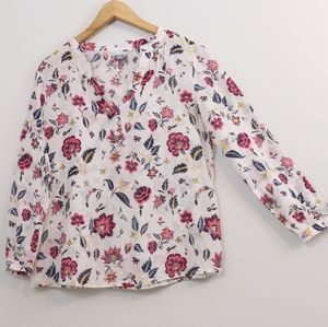 Old Navy Printed Linen Cotton Top